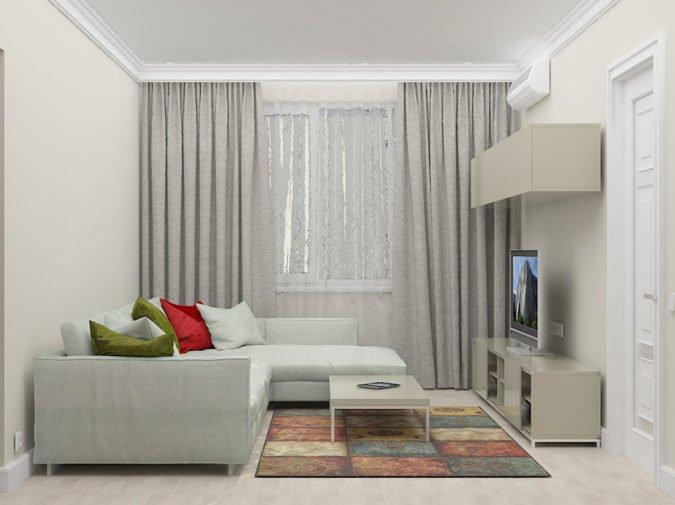 Дизайн квартиры 54 кв. м в скандинавском стиле